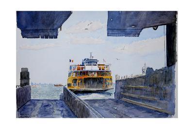 Staten Island Ferry Docking, 2010-Anthony Butera-Giclee Print