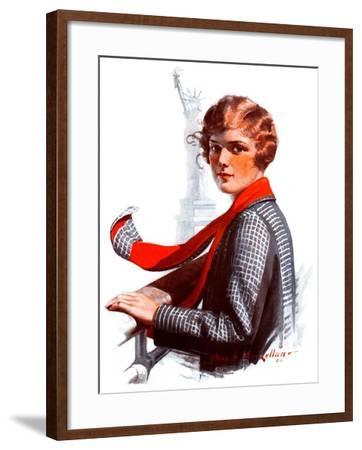 """Staten Island Ferry,""September 13, 1924-Charles A. MacLellan-Framed Giclee Print"