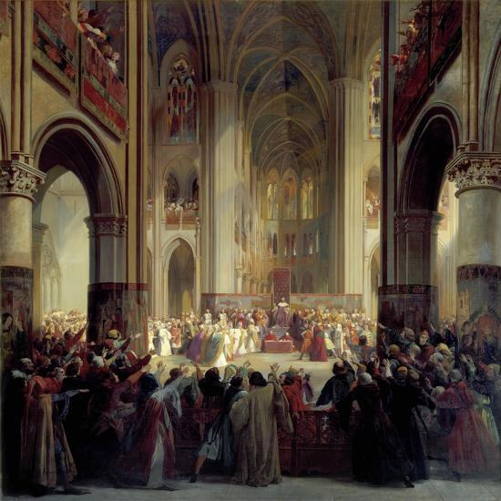 States General of Paris, 1328, Mid 19th Century-Jean Alaux-Giclee Print