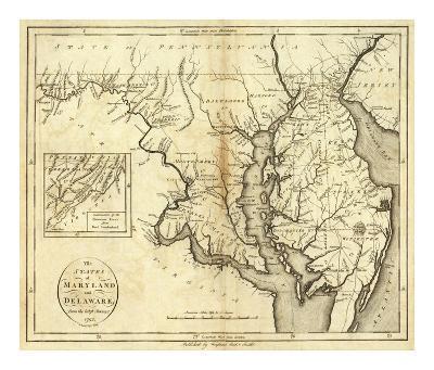 States of Maryland and Delaware, c.1796-John Reid-Art Print