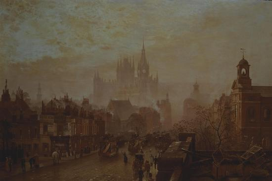 Station and Saint Pancras Hotel on Pentonville Road--Giclee Print