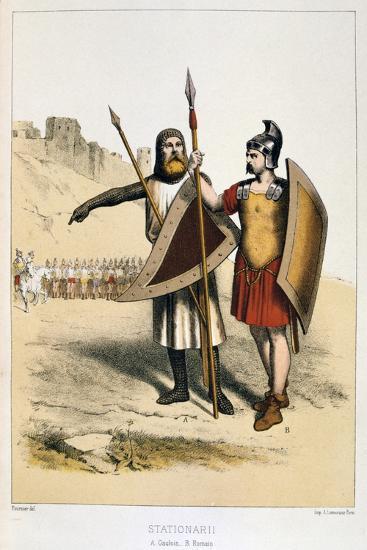 Stationarii, a Gaul and a Roman, C1887-Francois Cudet-Giclee Print