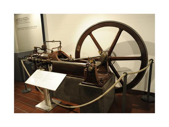 Stationary Gas Motor--Giclee Print