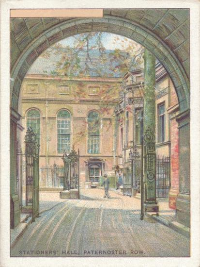 'Stationers' Hall, Paternoster Row', 1929-Unknown-Giclee Print