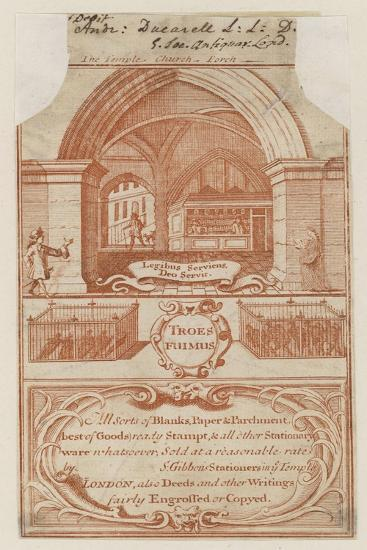 Stationers, Trade Card--Giclee Print
