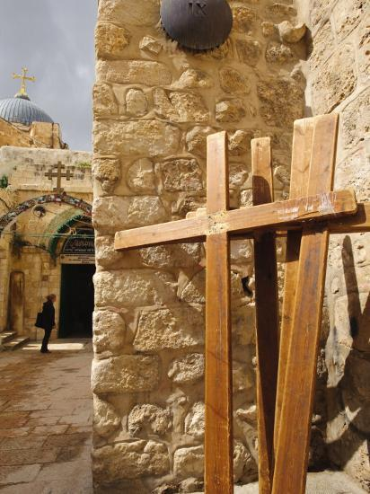 Stations of the Cross on Via Dolorosa, Old City, Jerusalem, Israel, Middle East-Michael DeFreitas-Photographic Print