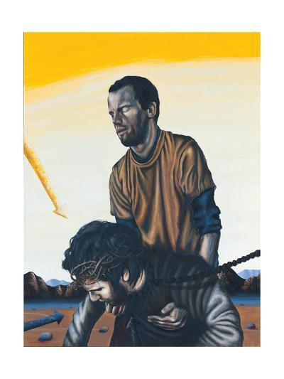 Stations of the Cross V: Simon the Cyrenean Helps Jesus, 2003-Chris Gollon-Giclee Print