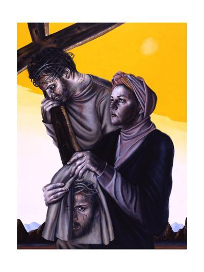 Stations of the Cross Vi: Veronica Wipes the Face of Jesus, 2005-Chris Gollon-Giclee Print