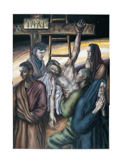 Stations of the Cross XIII: Jesus Taken Down from the Cross, 2008-Chris Gollon-Giclee Print