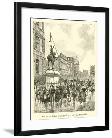 Statue De Jeanne D'Arc, Place Des Pyramides--Framed Giclee Print