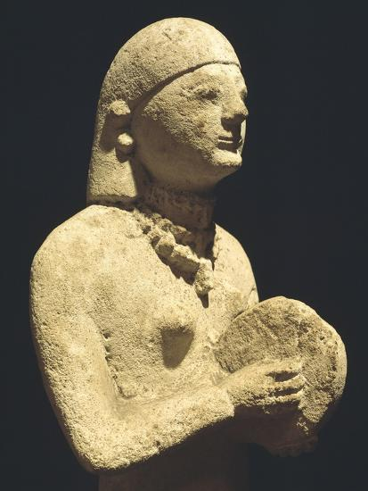 Statue Depicting a Female Tambourine Player, Ca 500 Bc, Cyprus--Giclee Print