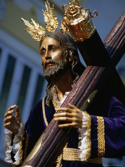 Statue During Holy Week Festival, Malaga, Spain-Setchfield Neil-Photographic Print