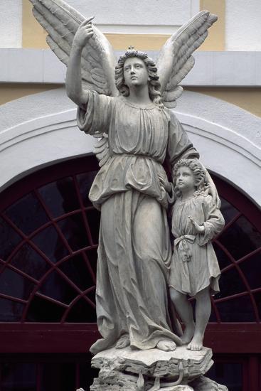 Statue from Kromeriz Archbishop's Palace--Photographic Print
