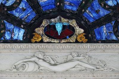 Statue in Marble and Stained Glass, Tettuccio Thermal Baths--Giclee Print