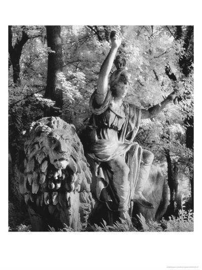 Statue in the Giardini Pubblici, Castello-Simon Marsden-Giclee Print
