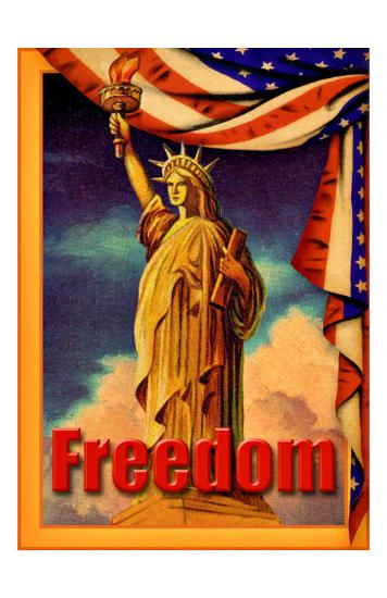 Statue Liberty Freedom--Giclee Print