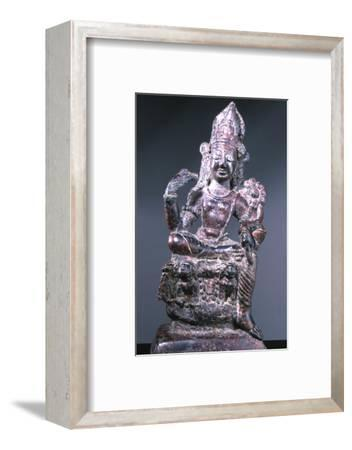 Statue of a Bodhisattva, possibly Padmapani, Swat Valley, north-west Pakistan, c8th century AD-Werner Forman-Framed Photographic Print