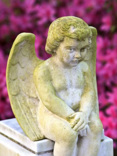 Statue of a Cherub in Bonaventure Cemetery, Savannah, Georgia, USA-Joanne Wells-Photographic Print