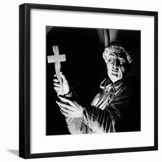 Statue of a Priest Performing an Exorcism, Mortemer Abbey, Normandy, France-Simon Marsden-Framed Giclee Print