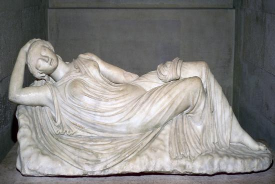 Statue of a sleeping girl. Artist: Unknown-Unknown-Giclee Print