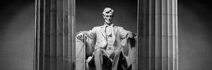 Statue of Abraham Lincoln in a Memorial, Lincoln Memorial, Washington DC, USA