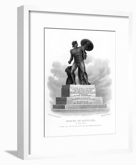 Statue of Achilles, Hyde Park, London, 1827-S Freeman-Framed Giclee Print