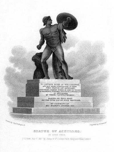 Statue of Achilles, Hyde Park, London, 1827-S Freeman-Giclee Print
