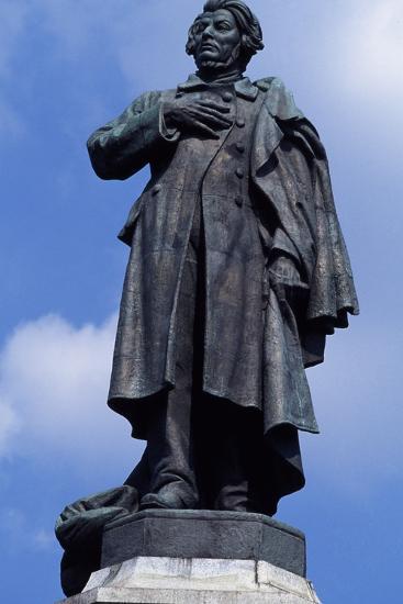 Statue of Adam Mickiewicz, Warsaw--Photographic Print