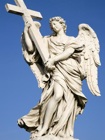 Statue of an Angel on Sant'Angelo Bridge-Paul Seheult-Photographic Print