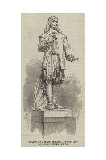 Statue of Andrew Marvell, in the New Townhall, Kingston-On-Hull--Giclee Print