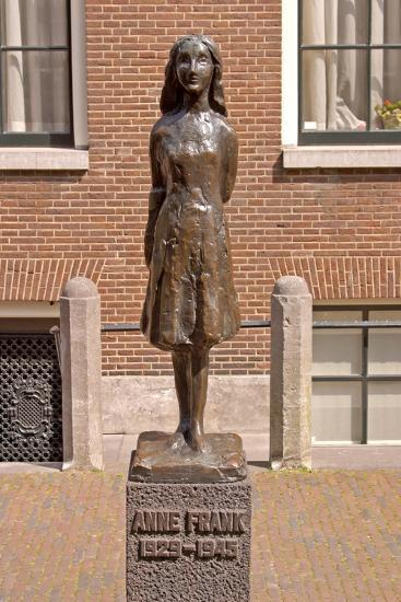 Statue of Anne Frank--Giclee Print