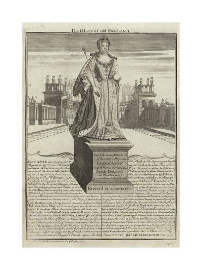 Statue of Anne, Queen of Great Britain--Giclee Print