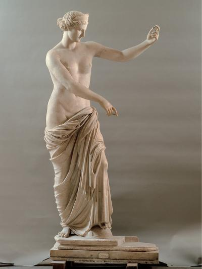 Statue of Aphrodite Type Capua, 2nd Century, White Marble, Full Relief--Photographic Print