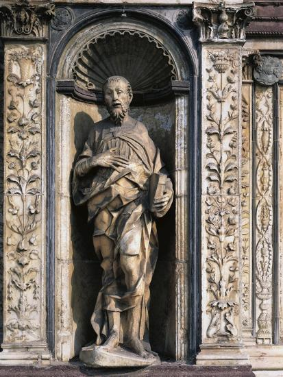 Statue of Apostle Attributed to Cristoforo and Antonio Mantegazza, Left Side of Façade--Giclee Print