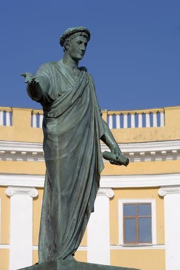 Statue of Armand-Emmanuel Du Plessis--Photographic Print