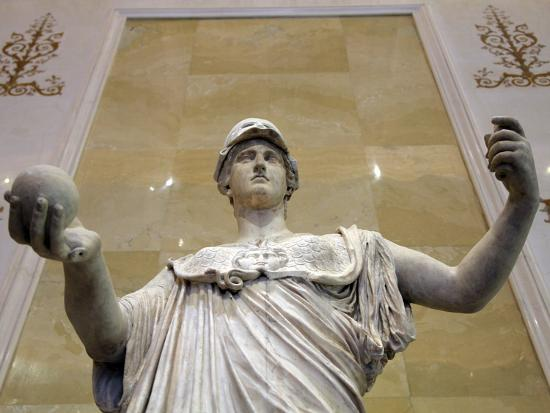 Statue of Athena, Goddess of Wisdom and Just War, and Patroness of Crafts, 2nd Century--Photographic Print