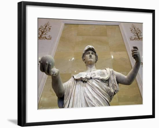 Statue of Athena, Goddess of Wisdom and Just War, and Patroness of Crafts, 2nd Century--Framed Photographic Print
