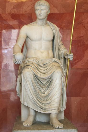 Statue of Augustus as Jupiter, First Half of 1st Century Bc--Photographic Print