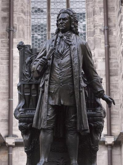 Statue of Bach, Leipzig, Saxony, Germany, Europe-Michael Snell-Photographic Print
