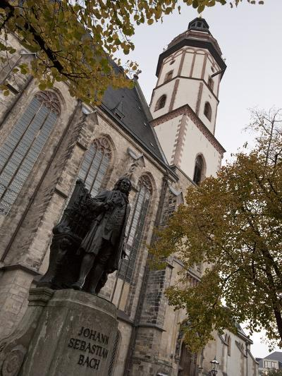 Statue of Bach, Thomaskirche, Leipzig, Saxony, Germany, Europe-Michael Snell-Photographic Print