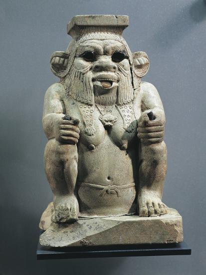 Statue of Bes, Protector of Childbirth and Households, as a Dwarf--Giclee Print