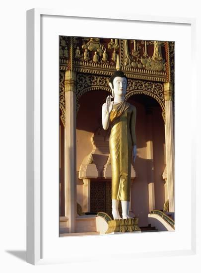 Statue of Buddha, Wat That Luang Neua Pagoda, Vientiane (Viangchan), Laos, 20th Century--Framed Giclee Print