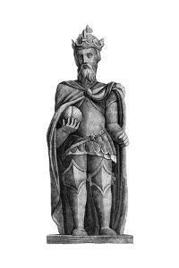 Statue of Charlemagne (712-81), St Julien Le Pauvre, Paris, 11th-12th Century