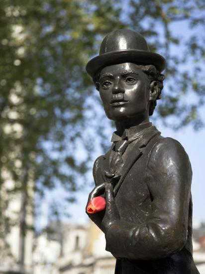 Statue of Charlie Chaplin in Leicester Square, in the Heart of London's West End-Julian Love-Photographic Print