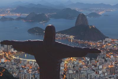 Statue of Christ the Redeemer, Corcovado, Rio De Janeiro, Brazil, South America-Angelo-Photographic Print