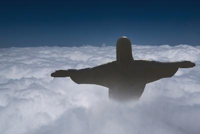 Statue of Christ the Redeemer Rising Above the Clouds-Angelo-Photographic Print