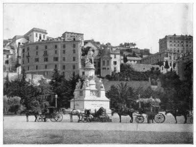 Statue of Columbus, Genoa, Italy, Late 19th Century-John L Stoddard-Giclee Print