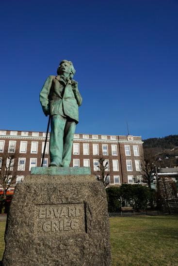Statue of Composer Edvard Grieg, Bergen, Hordaland, Norway, Scandinavia, Europe-Robert Harding-Photographic Print