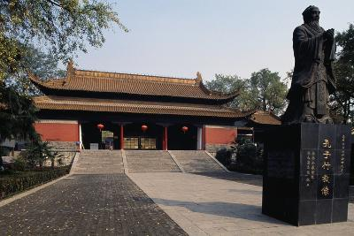 Statue of Confucius in Front of a Pavilion of Chaotian Palace--Giclee Print