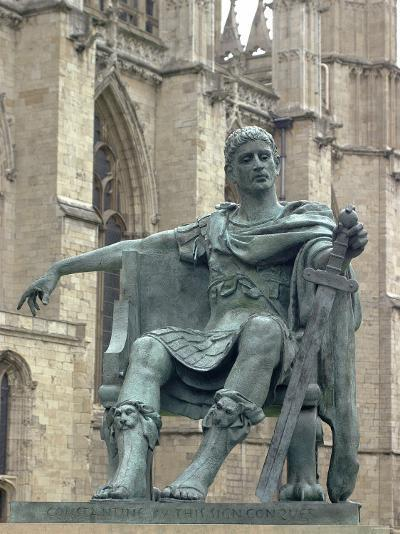 Statue of Constantine the Great at York, England, Where He was Proclaimed Roman Emperor in 306--Photographic Print